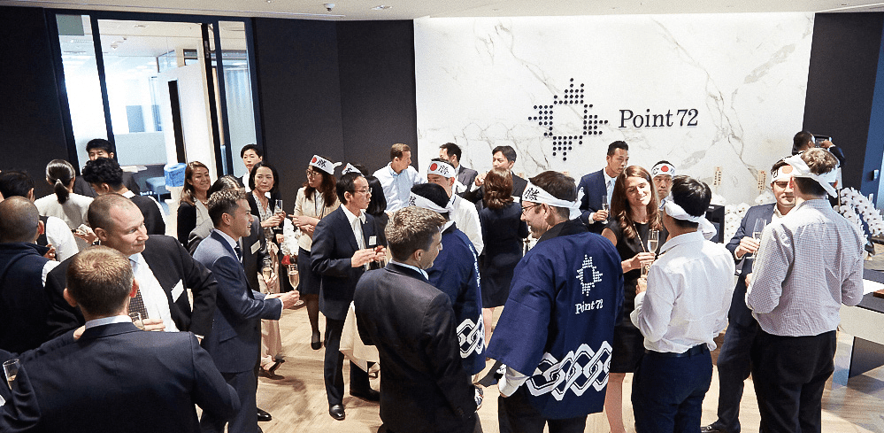 Point72 employees at Point72 Japan office opening