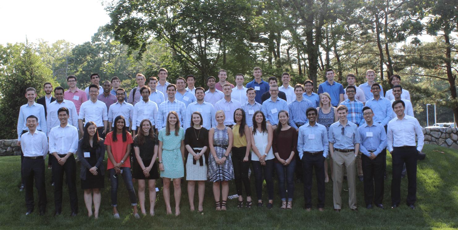 Point72 summer interns at summer event